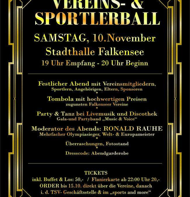 Sportlerball 10. November