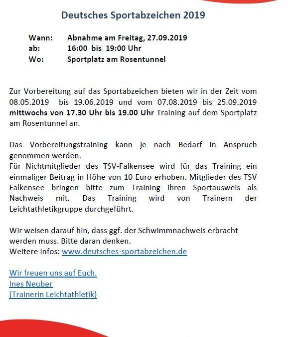 Training Deutsches Sportabzeichen 2019
