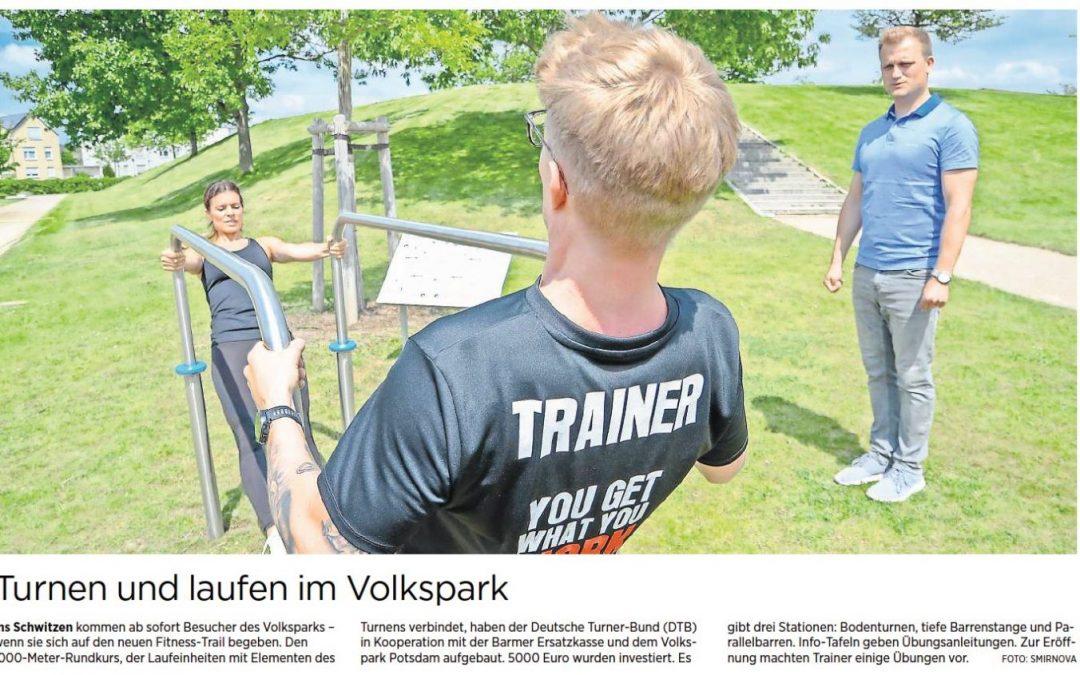 Eröffnung Fitness-Trail Volkspark Potsdam